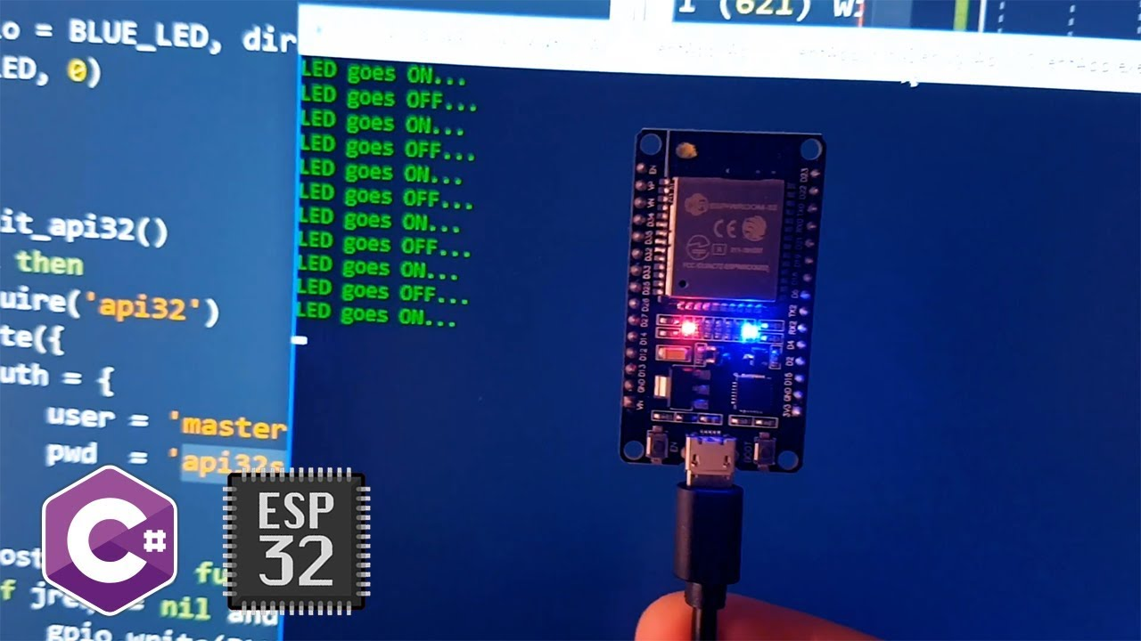 C# controls LED on ESP32 over the WiFi (with NApi32 REST client)