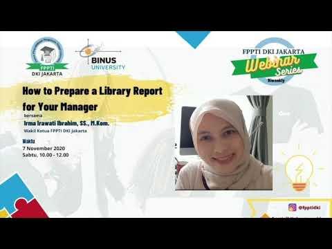 How to Prepare Library Report   Part 1   FPPTI DKI Jakarta