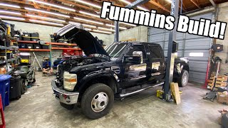 homepage tile video photo for CUMMINS Swapping A 6.4 Ford! Fummins Build Pt.3 *Building The Ultimate Tow Rig!*