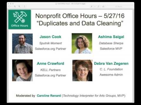 HUB Office Hours 5/27/16 - Duplicates and Data Cleaning