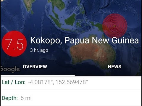 MAJOR 7.7 EARTHQUAKE PAPUA NEW GUINEA Tsunami threat no more