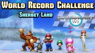 Download Mario Kart Wii - Sherbet Land WR Challenge (Item Rain) Mp3 and Videos