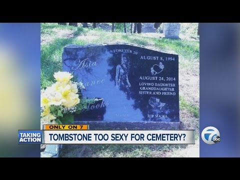 Tombstone too sexy for cemetery?