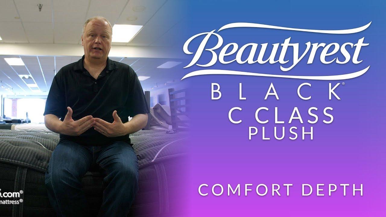 beautyrest black c class plush mattress