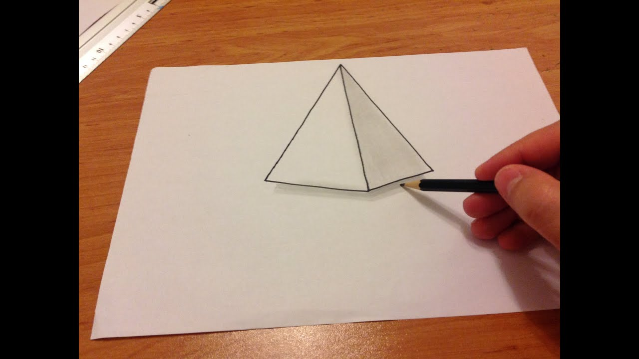 Uc Boyutlu Kolay Cizimler Pramit How To Draw 3d Youtube