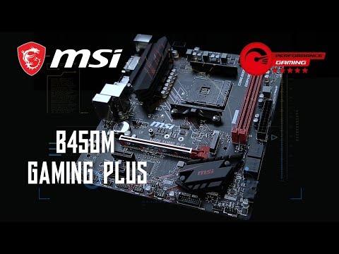 MSI AMD Ryzen B450M GAMING PLUS AM4 Micro ATX Motherboard