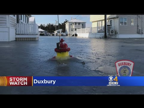 Flooded Duxbury Neighborhoods See Frozen Hydrants, Ice-Covered Streets