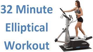 32 Min. Elliptical Workout. Burns 747 Calories. Serious Weight Loss