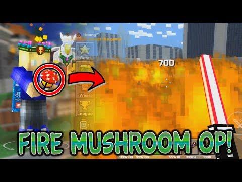 THIS MOD IS OVERPOWERED!! Pixel Gun 3D Fire Mushroom Gadget Mod