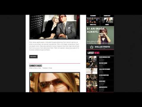 Fashion Life - Joomla Template Intro Tutorial