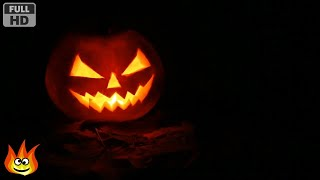 Traditional Jack O'Lantern with Dark Night Ambience Sounds (for Halloween)