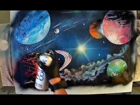 Eternal Galaxy - SPRAY PAINT ART by Skech