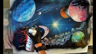 Eternal Galaxy - SPRAY PAINT ART by Skech
