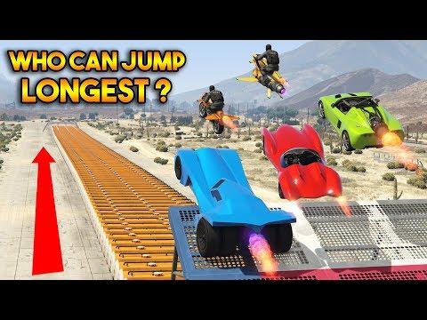 GTA 5 ONLINE : WHO CAN JUMP LONGEST?