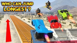 GTA 5 ONLINE : WHO CAN JUMP LONGEST?