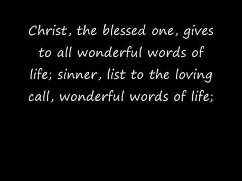 Wonderful Words of Life Hymn (Piano)