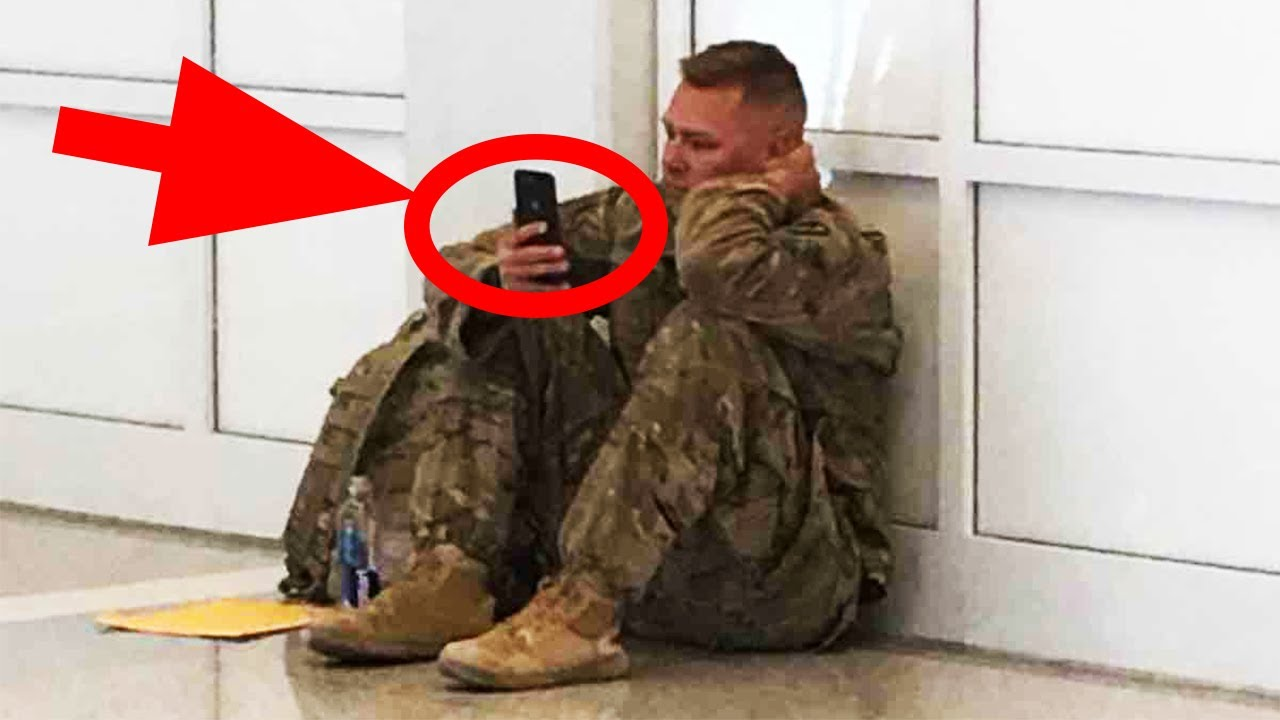 Staff notices army man crying inside the airport and decides to take matter into their own hands