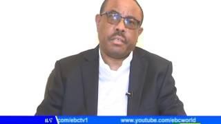 """PM Hailemariam Desalegn About Current Issue """"Irrecha"""" 2009"""