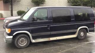 camper van inside of 2000 ford e150 econoline