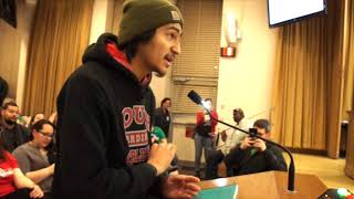 Substitute Teacher Speaking Against Budget Cuts Thrown Out of MPS School Board Hearing