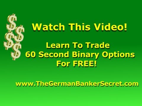 Binary options 60 second trading strategy
