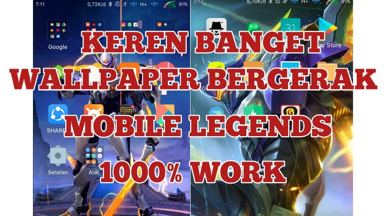 Cara Membuat Wallpaper Mobile Legends Bergerak WORL