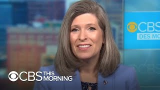 """Iowa senator joni ernst is out with a new memoir on her experiences in politics, the military and growing up farm. """"cbs this morning"""" talks s..."""