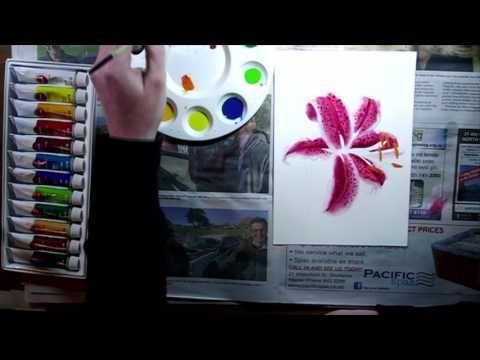 Lily Painting || Gouache