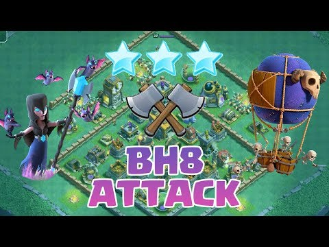 BH8 ATTACK STRATEGY! 3 Star BH8 Bases | Builder Hall 8 Base Attacks | Clash of Clans