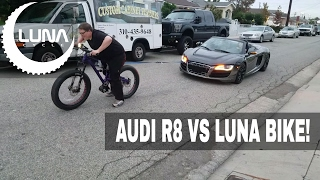 Audi -  Ebike towed up and down Block by Luna Cycle