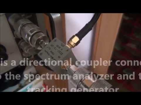 Antenna testing with spectrum analyzer and tracking generator