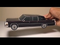 JCARWIL PAPERCRAFT 1980 Cadillac Fleetwood Series 75 Limo (Building Paper Model Car)