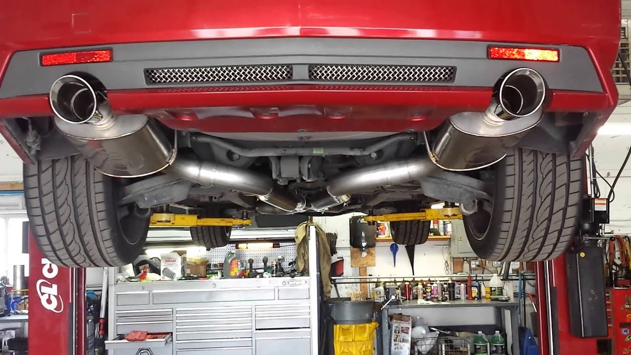 2009 Cadillac Cts V Headers And Exhaust Youtube