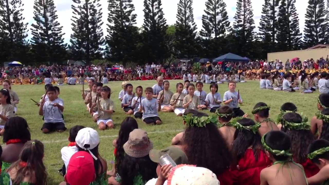 Mililani Mauka Elementary School May Day 2013 Youtube