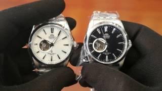 (So Sánh) Orient Open Heart Black & White dial, Sự khác nhau giữa đời cũ & đời mới