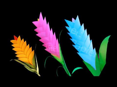 DIY Paper flower blossom Easy Paper Flower Using Origami Paper