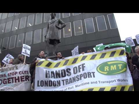 Tube strike: rail workers protest against London Underground