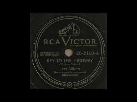 KEY TO THE HIGHWAY / Jazz Gillum [RCA VICTOR 20-2160-A]