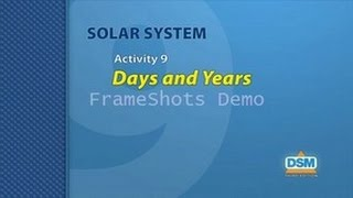 Solar System - Activity 9: Days and Years