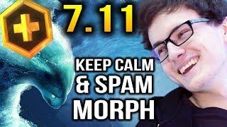 Miracle Dota 7.11 Morphling vs MagE Invoker - Keep Calm and Spam Morph
