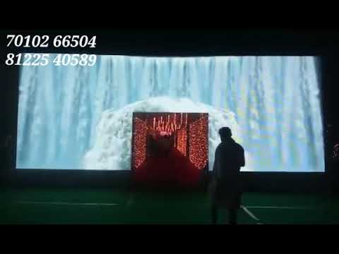 3D Waterfalls LED Video Wall Arch Entrance Wedding Marriage Reception Event Stage Decoration India