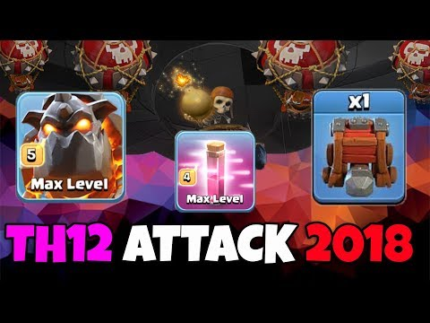 3 Max Lava 9 Haste Spell 41 Max Balloon Siege Machine:: TH12 WAR 3 STAR ATTACK STRATEGY 2018 Updated