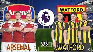Arsenal vs Watford   Premier League English 2018-19   Full Match & PES Gameplays PC