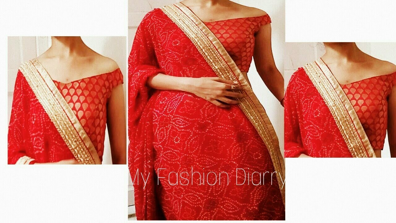 62435adc477a76 How to make off shoulder blouse