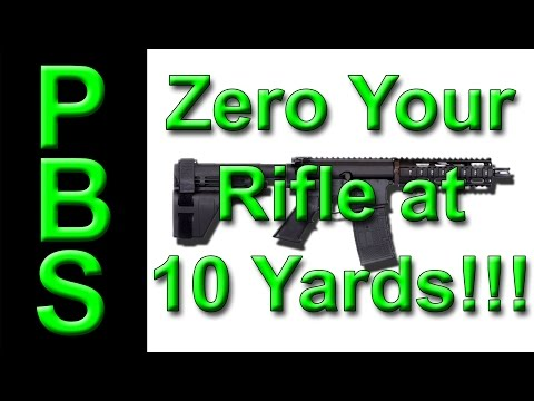 Zero AR15 pistol for 50m from 10 yards technique results