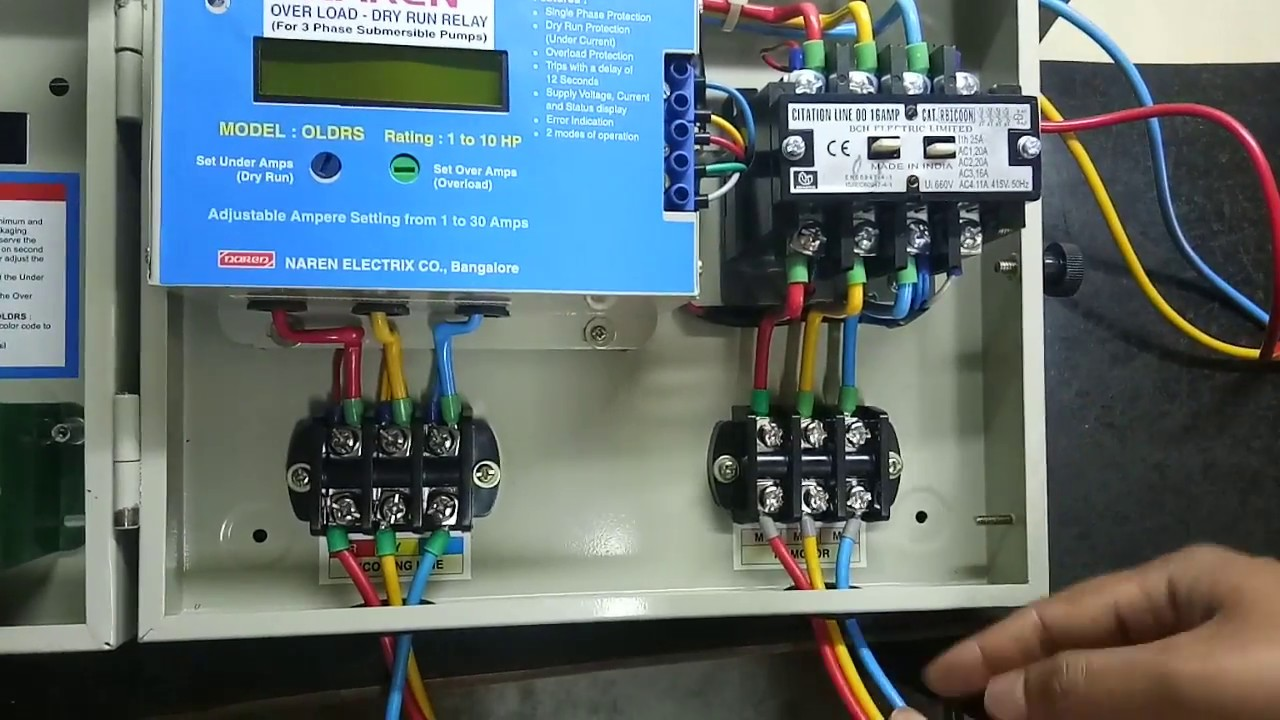 hight resolution of naren 3 phase control starter type dol kannada version