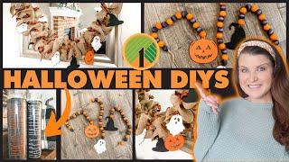 DIY Farmhouse Halloween Garland, Farmhouse Beads & Dollar Tree Rae Dunn Inspired Candles