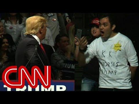Trump stares down