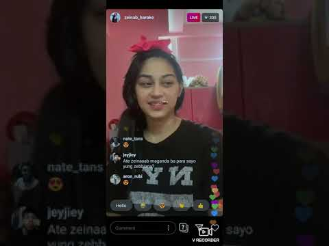 Zeinab Harake Reaction on ZEBIANNA song by Scusta clee |IG LIVE |