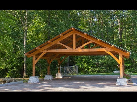 Beach Wood Timber Frame Carport Build Part 2 Youtube